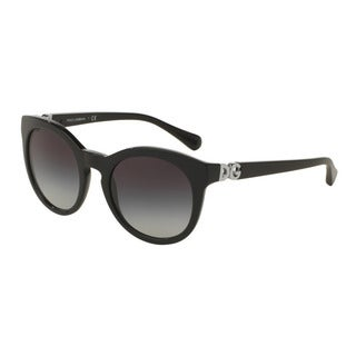 D&G Women's DG4279F 501/8G Black Plastic Phantos Sunglasses
