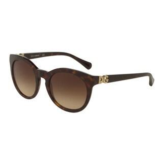 D&G Women's DG4279F 502/13 Havana Plastic Phantos Sunglasses