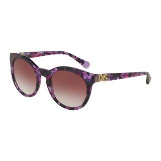 D&G Women's DG4279 29128H Violet Plastic Phantos Sunglasses