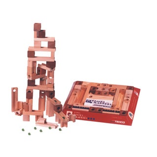TEDCO Toys Hardwood Preschool Original Blocks and Marbles Super Set
