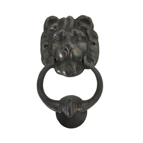 Handmade Lion Head Brass Door Knocker (Big)