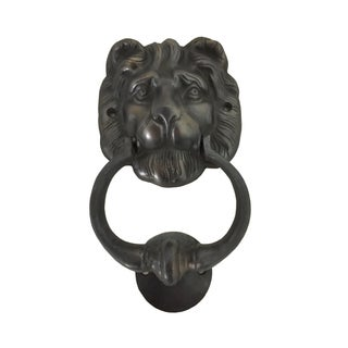 Handmade Lion Head Brass Door Knocker (Big)