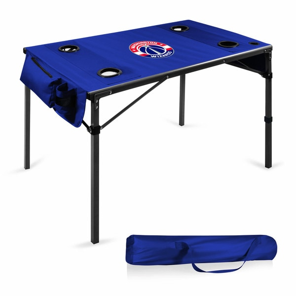 Picnic Time Washington Wizards Polyester and Metal Travel Table