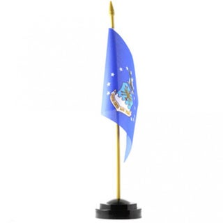 Blue Polyester 4-inch x 6-inch US Air Force Desk Flag with Stand