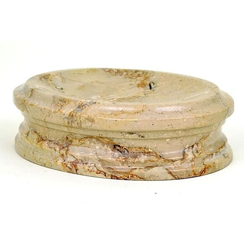Nature Home Decor Bengal Collection Sahara Beige Marble Soap Dish
