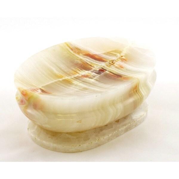 Nature Home Decor Siberan Collection White Onyx Soap Dish