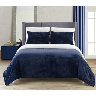 Chic Home Ernest 7-Piece Sherpa Blanket, Sham, and Sheet Set