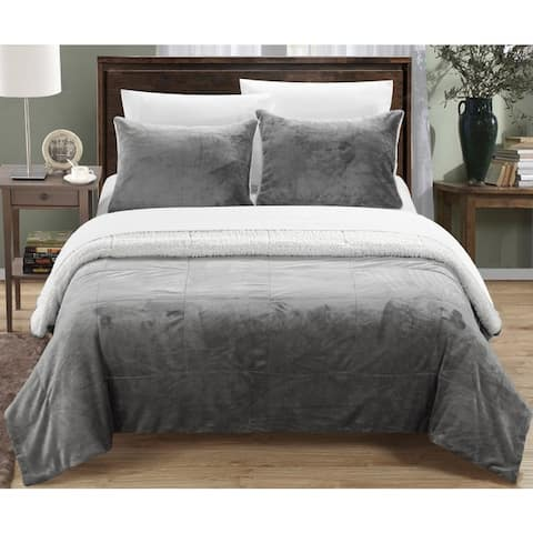 Chic Home Ernest 7-Piece Sherpa Blanket, Shams, and Sheets