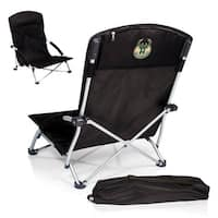 Picnic Time Black Milwaukee Bucks Tranquility Portable Beach Chair