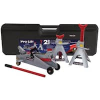 Pro-Lift F-2330BMC Grey 2-Ton Floor Jack and Stand Combo Set
