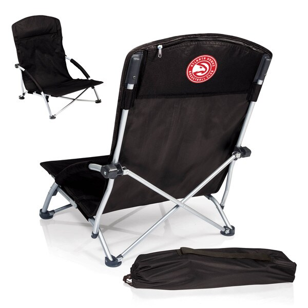 Picnic Time Atlanta Hawks Black Portable Beach Chair
