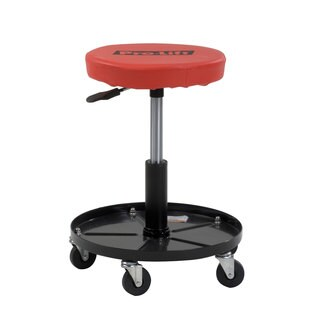 Pro-Lift C-3001 Red and Black Vinyl-covered Cushioned 300-pound Pneumatic Chair