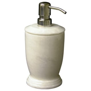 Nature Home Decor Atlantic Collection White Marble Lotion Dispenser