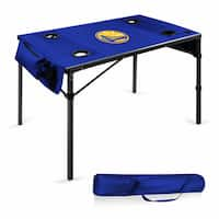 Picnic Time Golden State Warriors Navy Polyester Travel Table