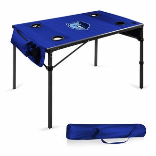 Picnic Time Memphis Grizzlies Navy Blue Metal/Polyester Travel Table