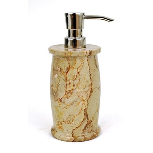 Nature Home Decor Pacific Collection Sahara Beige Marble Lotion Dispenser