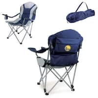 Picnic Time Golden State Warriors Navy Polyester/Metal Reclining Camp Chair
