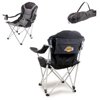 Picnic Time Los Angeles Lakers Black Reclining Camp Chair