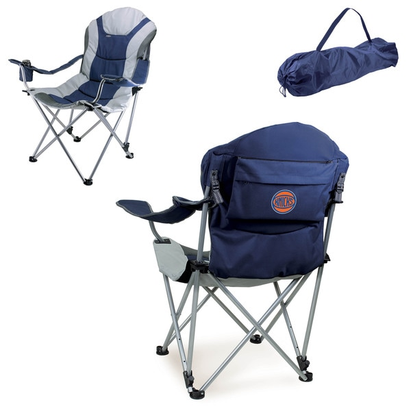Picnic Time New York Knicks Navy Metal/Polyester Reclining Camp Chair