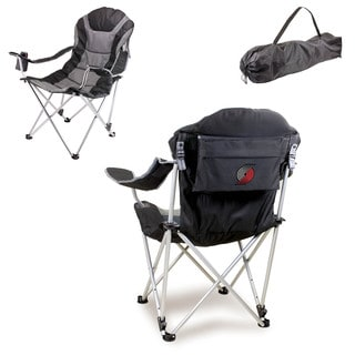Picnic Time Portland Trailblazers Black Reclining Camp Chair