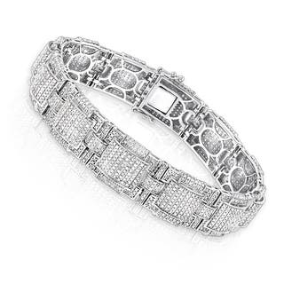 Luxurman 10k Gold 6.28ct Men's Round Pave Diamond Bracelet https://ak1.ostkcdn.com/images/products/11885182/P18781787.jpg?impolicy=medium