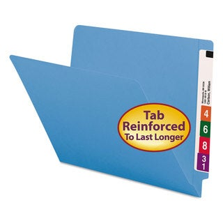 Smead Blue Colored File Folders (Box of 100)