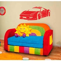 Racing Sport car Wall Art Sticker Decal Red