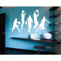 Sport basketball basketball player a game Wall Art Sticker Decal White