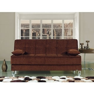 Smart Fit Microfiber Futon Convertible Sleeper Sofa