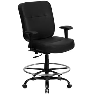 Tuva Big and Tall Black Leather Adjustable Office Chair