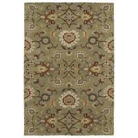 Hand-Tufted Perry Kashan Sage Wool Rug (3'0 x 5'0) - 3' x 5'