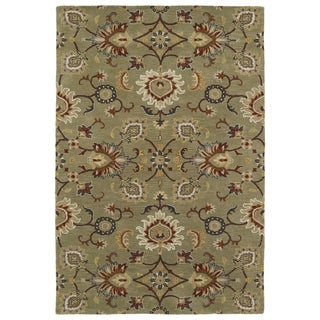 "Hand-Tufted Perry Kashan Sage Wool Rug (5'0 x 7'9"") - 5' x 7'9"""