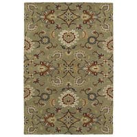 "Hand-Tufted Perry Kashan Sage Wool Rug (5'0 x 7'9"") - 5' x 7'9"""