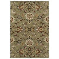 Hand-Tufted Perry Kashan Sage Wool Rug - 8' x 10'