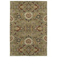 Hand-Tufted Perry Kashan Sage Wool Rug (9' x 12')
