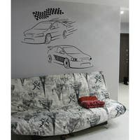 Sport car race Wall Art Sticker Decal