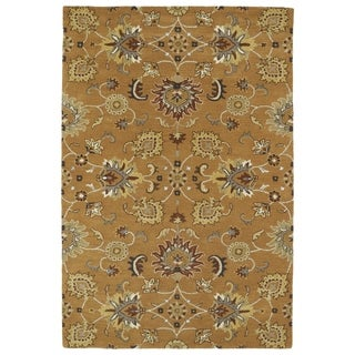 Hand-Tufted Perry Kashan Copper Wool Rug (3'0 x 5'0)