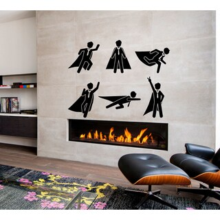 Superman office Job Wall Art Sticker Decal