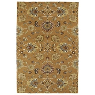 "Hand-Tufted Perry Kashan Copper Wool Rug (5'0 x 7'9"")"