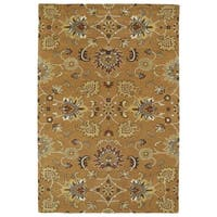 Hand-Tufted Perry Kashan Copper Wool Rug - 5' x 7'9