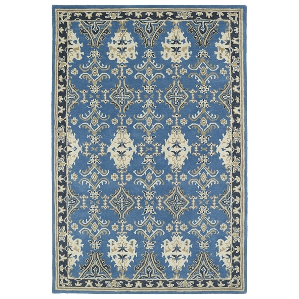 Hand-Tufted Perry Imperial Blue Wool Rug (3' x 5')