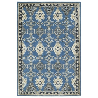 Hand-Tufted Perry Imperial Blue Wool Rug (8'0 x 10'0)