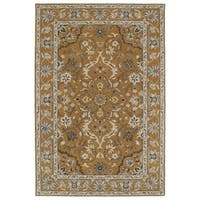Hand-Tufted Perry Medallion Terracotta Wool Rug - 9' x 12'
