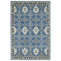 Hand-Tufted Perry Imperial Blue Wool Rug (5' x 7'9)