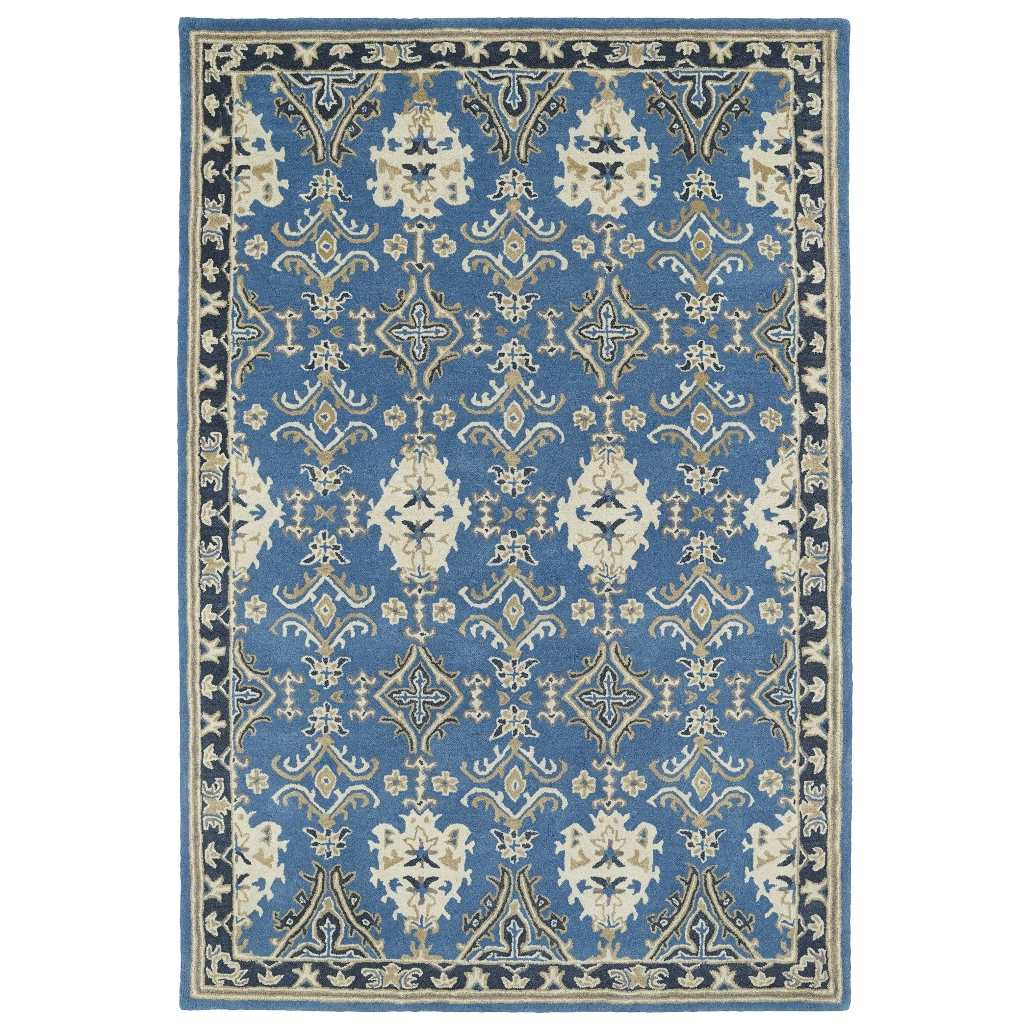 Hand-Tufted Perry Imperial Blue Wool Rug - 9 x 12 (90 x 120)