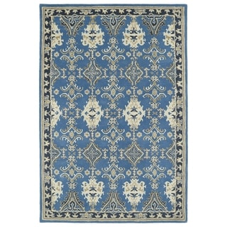 Hand-Tufted Perry Imperial Blue Wool Rug (9'0 x 12'0)