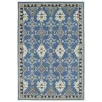 Hand-Tufted Perry Imperial Blue Wool Rug - 9' x 12'