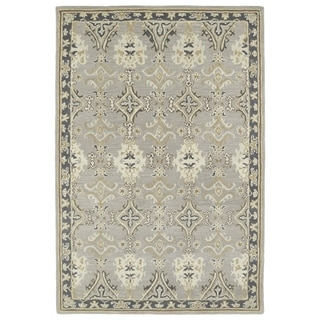 Hand-Tufted Perry Imperial Grey Wool Rug (2'0 x 3'0)