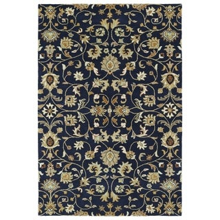 Hand-Tufted Perry Navy All-Over Wool Rug (2'0 x 3'0)