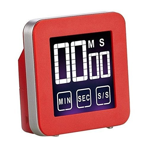 Cook N Home Touch Screen Red Digital Kitchen Timer (Touch...